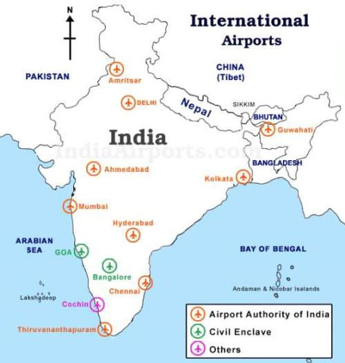 India Airports Map